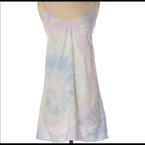 Aritzia Wilfred Free tie dye camisole slip dress L